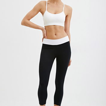 Fold-Over Capri Athletic Leggings