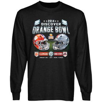Clemson Tigers vs. Ohio State Buckeyes 2014 Orange Bowl Showtime Dueling Long Sleeve T-Shirt - Black