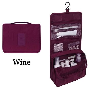 US Travel Cosmetic Makeup Toiletry Case Wash Organizer Storage Pouch Hanging Bag