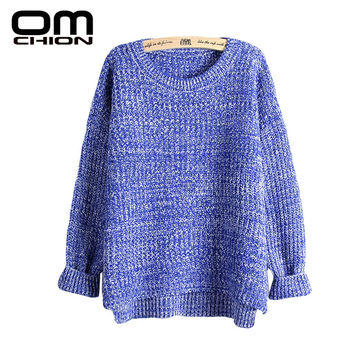 Sueter Mujer 2016 Autumn Winter Fashion Split Swallowtail Female Loose Sweaters Round Neck Women Sweaters And Pullovers LMY17