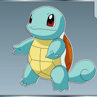 SQUIRTLE No. 1 from Pokemon Vinyl Decal Anime Sticker