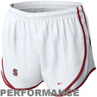 Nike Stanford Cardinal Ladies Tempo Performance Shorts - White