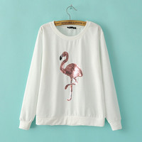 White Flamingo Sequined Sweater
