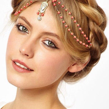 Peals-chain Layered Hair Accessory