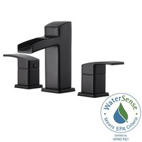 Pfister Kenzo 8 in. Widespread 2-Handle Bathroom Faucet in Matte Black-LG49-DF0B - The Home Depot