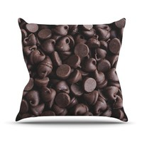 "Kess InHouse Libertad Leal ""Yay! Chocolate"" Candy Outdoor Throw Pillow, 26 by 26-Inch"