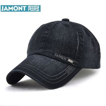 Trendy Winter Jacket [JAMONT] Branded Washed Denim Sun Visor Baseball Cap Men's Women's Cotton Polo Snapback Hat Hip Hop Bone Caps Gorra Casquette AT_92_12