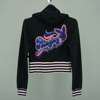 "Playboy Jacket Women Size XS/S Playboy Hooded Sweater Jacket ""Living the Good Life"""