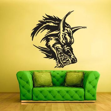 Wall Vinyl Decal Sticker Bedroom Decal Decal Wolf Head Animal  z422