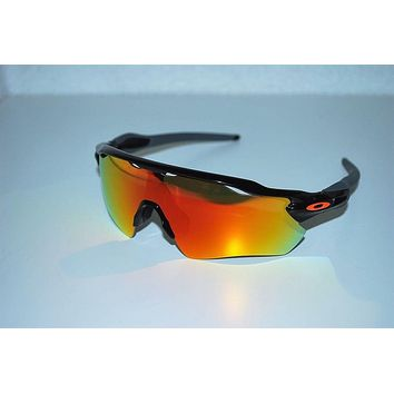 Cheap Oakley Radar EV Path Team Colours OO9208-19 Polished Black/Fire Iridium NEW