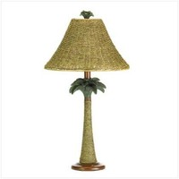 VERDUGO GIFT 37989 Rattan Rope Style Palm Tree Lamp Light Tropical Decor