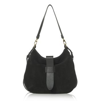 Tulip Hobo (Black Suede)