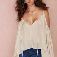 Journey On Cold Shoulder Top