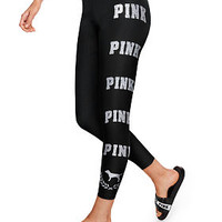 Bling Cotton Ankle Legging - PINK - Victoria's Secret