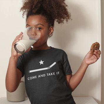 Plastic Straw Ban Come and Take It Youth Short Sleeve T-Shirt