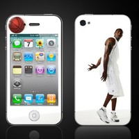 iPhone 4 Kobe Bryant #24 Lakers #1 Vinyl Skin kit fits 4th generation apple iPhone decal cover Skins case.