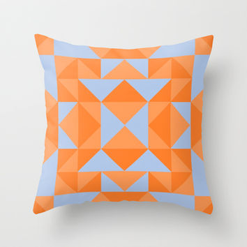 Orange Throw Pillow by EmmaKennedy
