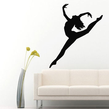 Wall Decals Girl Gymnast Sport Gymnastics People Home Vinyl Decal Sticker Kids Nursery Baby Room Decor kk470
