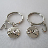 Reserved- 2 Pinky Promise, (4 TOTAL Initials) Best Friends Keychains