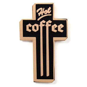 Hot Coffee Cross Pin