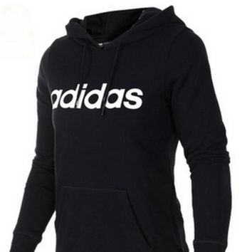 """""""Adidas"""" Letter and Logo Print Long Sleeve Sweater"""