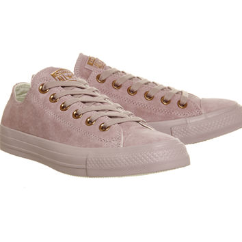 Converse All Star Low Leather Burnished Lilac Rose Gold Exclusive - Hers trainers
