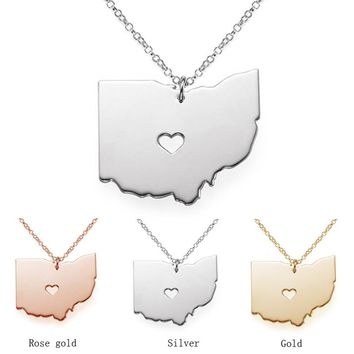Ohio Girl State Necklace - 3 Colors