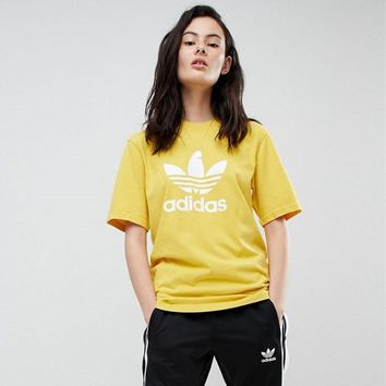 adidas Originals Yellow Trefoil T-Shirt