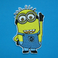 CUTE! Iron-on Embroidered Patch Despicable Me Gru's Minion 3.5 inch