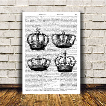 Royal print Crown poster Modern decor Antique art RTA138