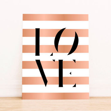 Pink foil Pink Foil print Love print love wall quote digital quote love print romantic art typography art home decor love sign wall art