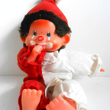 Vintage Monchhichi Chicaboo Toy, Sekiguchi, Chad Valley, Palitoy, Clown,Monkey, 80s toys
