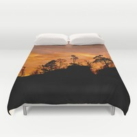 Rock in fire Duvet Cover by Pirmin Nohr