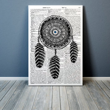 Dreamcatcher poster Native American print Ethnic decor TO11