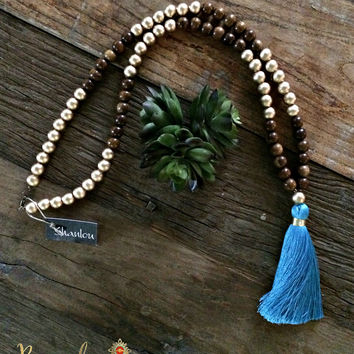 Turquoise Tassel Shanlou Necklace
