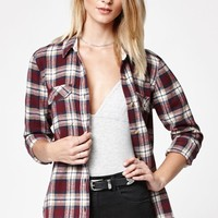 No Ones Girl Plaid Flannel Button-Down Shirt