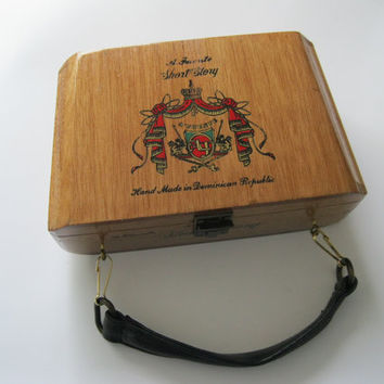 A. Fuente Wood Cigar Box Purse