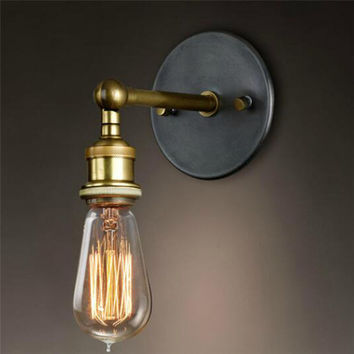 Wall light fixture Retro Loft Metal Vintage Industrial Rustic Sconce Wall Lamp E27 Fixtures