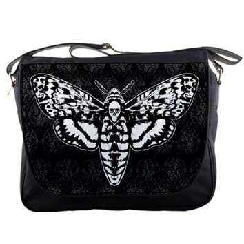 Death's Head Moth Messenger Bag