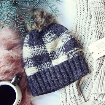 Cozy Plaid Beanie