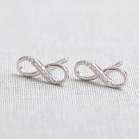 Tiny Infinity Stud Earrings In Silv.. on Luulla