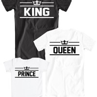 Family t-shirts KING, QUEEN and PRINCE ♛