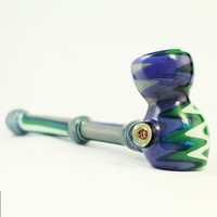 Custom Switchback Hammer Pipe Millefiori Tropical Fish Marble