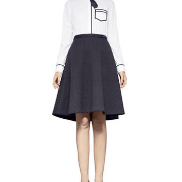 Pink Tartan Quilted Circle Skirt