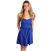 The Savannah Dress in Royal Blue by Lauren James - FINAL SALE
