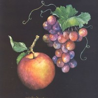 Apple & Grapes 10 x 8 lithograph