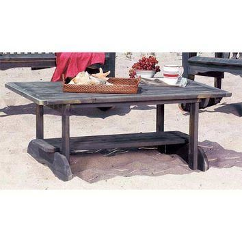 Uwharrie Chair Company 6035-047 Hatteras Coral Red Outdoor Conversation Table - (In 04