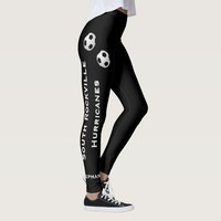 CHOOSE YOUR COLOR Soccer Team Leggings with Name