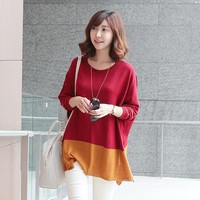 Aliexpress.com : Buy Free shipping Autumn 2013 new Korean style fashion Splice spell color loose knitting sweater coat Pullover FLC3086 219 35 from Reliable coat summer suppliers on eFoxcity Wholesale