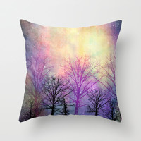 abstract trees Throw Pillow by Sylvia Cook Photography